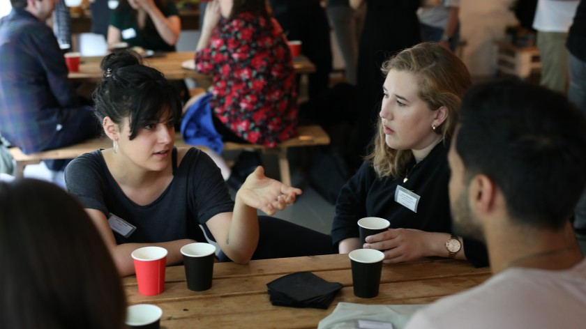 Marjory (left) at our latest Rise event