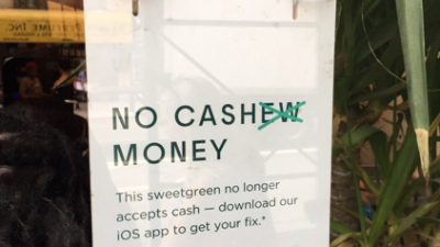 Sweetgreen went cashless in 2017, and backtracked in 2019