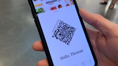 Getting into the store: scan the app, and go