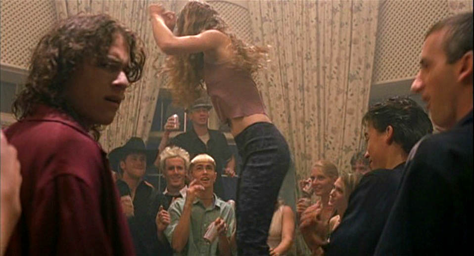 Julia Stiles's character Kat 'getting trashed because that's what you're supposed to do at parties' in 10 Things I Hate About You