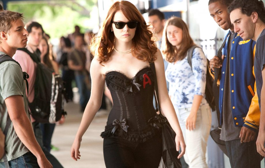 Emma Stone's character, Olive, takes back 'the scarlet letter' in <em>Easy A</em>