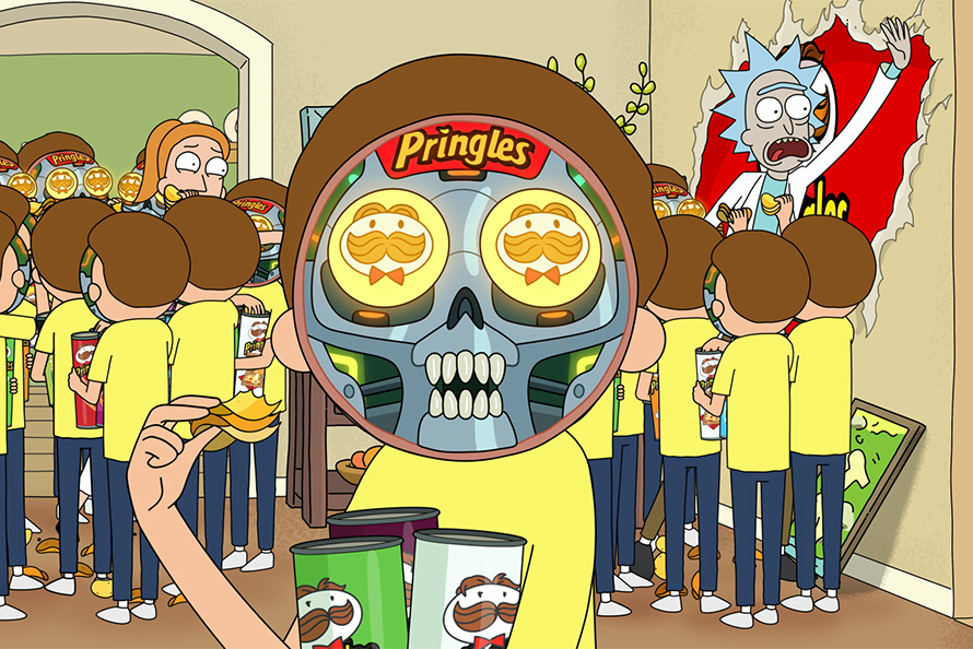 Pringles jest about robot mind control forcing us to buy products.