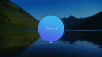 Calm's Breathe Bubble simultaneously connotes and instructs serenity