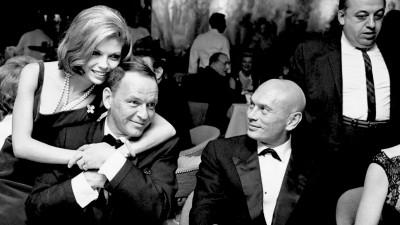 Sinatra enjoys a rare night out