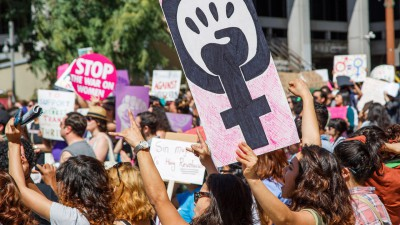 Equal rights march in Los Angeles to mark International Women's Day 2015