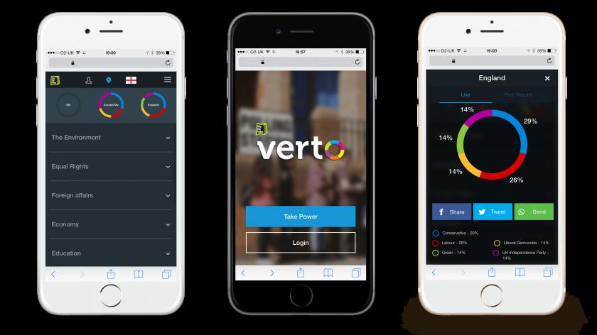Verto's mobile application