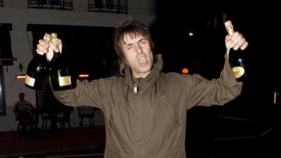 Liam Gallagher living it up
